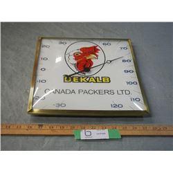 "Dekal B Canada Packers LTD Thermometer 12"" Diameter"