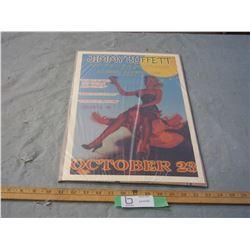 """Jimmy Buffett 1976 Concert Poster 12 by 18"""""""
