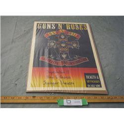 Guns N Roses Appetite For Destruction Concert Poster 12 by 18
