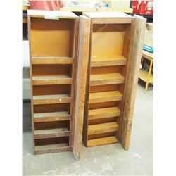 2X THE MONEY - Moving Shelving Units with (Piano Hinge) 13 by 46.5