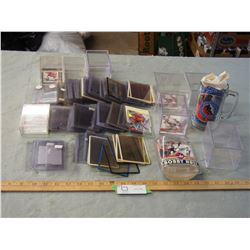 Bobby Hull Figure Cards Sleeves and Hall of Frame Mug