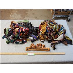 Assorted Ties and Tie Holder