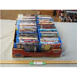 60+ Blue-Ray DvD's and 8 XBOX360 Games