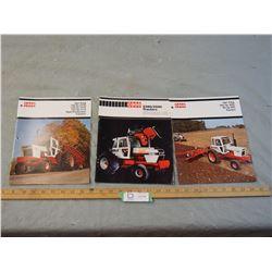3 Case 1970's Tractor Brochures