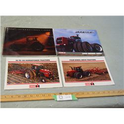 4 Case IH 1980's Tractor Brochures and 1990 Farmers Catalog