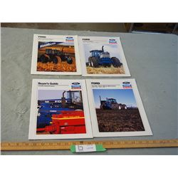 4 Ford New Holland Tractor Brochures