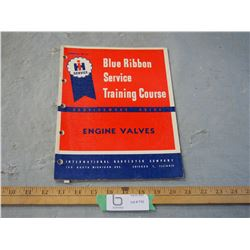 IHC Tractor Engine Valves Service Manual Cover All Models From Approx 1950