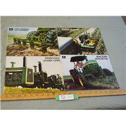 4 John Deere 1970's Farm Brochures