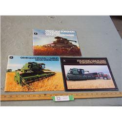 3 John Deere Self Propelled Combine Brochures