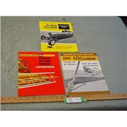 Minneapolis-Moline 1960's Farmer Implements Brochures
