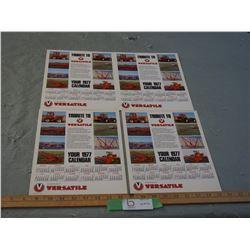 4 Versatile 1977 Farmers Calendars