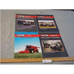 4 White Farm Equipment 1980's Brochures