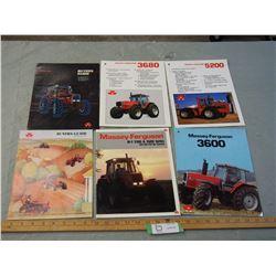 5 Massey-Ferguson 1980's Tractor Brochures