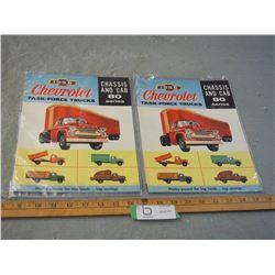 2X THE MONEY - 2 Chevrolet 1958 Truck Brochures