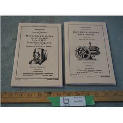 2 McCormick-Deering Engines Booklets (Repro)