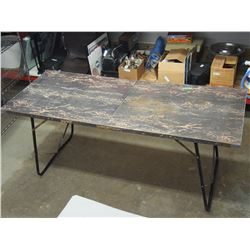 """Folding Metal Table 72 by 30"""""""