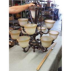 """Chandelier with 9 Shades 29 by 25"""""""