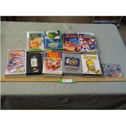 Kids DVD's and VHS Tapes