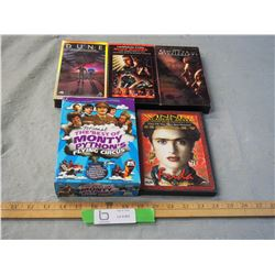 Assorted DVDs and VHS Tapes