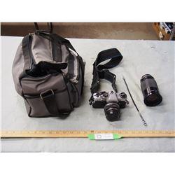 Olympus Camera and Case