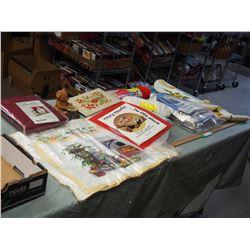 Craft Supplies, Needle Point Art Work, Cross Stitch Charts, Crochet Patterns and etc.
