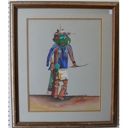 HOPI INDIAN PAINTING (DANIEL NAMOKI)
