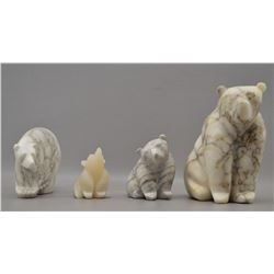 ALABASTER CARVED BEARS (MICHAEL CONNOR)
