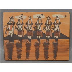 NAVAJO INDIAN POTTERY TILE (IDA SAHMIE)