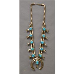 NAVAJO INDIAN SQUASH NECKLACE