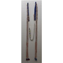PLAINS INDIAN BEADED HAIR DROP
