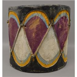 COCHITI INDIAN COTTON WOOD DRUM