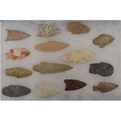COLLECTION OF STONE SPEAR POINT