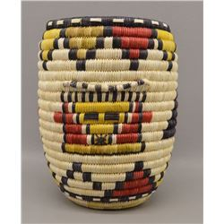 HOPI INDIAN BASKETRY CYLINDER (ANNETTE NASAFOTIE)