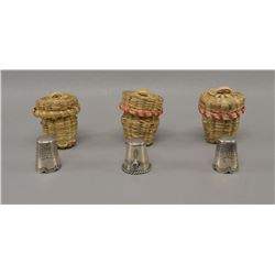 NAVAJO INDIAN SILVER THIMBLES