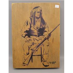 APACHE INDIAN WOOD BURN BOX