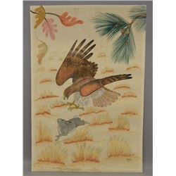 KIOWA INDIAN PAINTING (ALFRED MOMADAY)