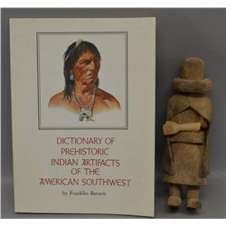 HOPI KACHINA AND BOOK ON PREHISTORIC ARTIFACTS