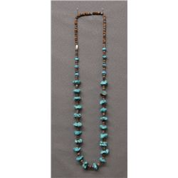 NAVAJO INDIAN TURQUOISE NUGGET NECKLACE