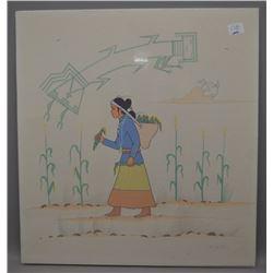 NAVAJO INDIAN PAINTING (ROBERT CHEE)