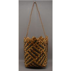 NORTHWEST COAST INDIAN CEDAR BARK BASKET