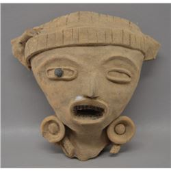 PRE-COLUMBIAN POTTERY FACE