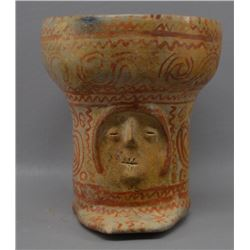 PRE COLUMBIAN JALISCO POTTERY EFFIGY VASE