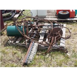 Pallet of Cables and Cattle Oiler