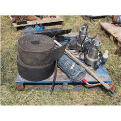 Page Wire, Belting, 1/5 HP Submersible Pumps