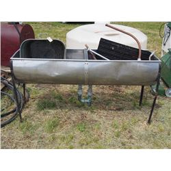 """Double Stainless Steel Sink 64"""" by 19"""", Metal Tube and Misc"""