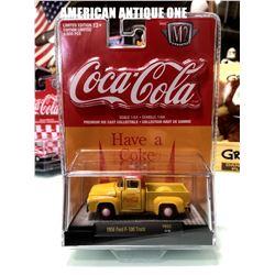 2019 USA Coca-Cola minicar 1956 model Ford F-100 truck