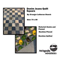 Denim Jean Quilt Squares