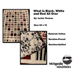 What is Black, White, and Red All Over