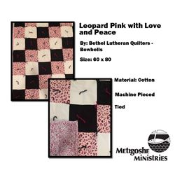 Leopard Pink with Love and Peace