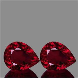 Natural AAA Fire Red Mozambique Ruby Pair 10x8 MM